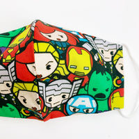 "CHILD ""EarLoop"" cotton face mask- avengers group"