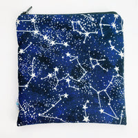 LARGE ReUsable Snack Bag - stars glow in the dark