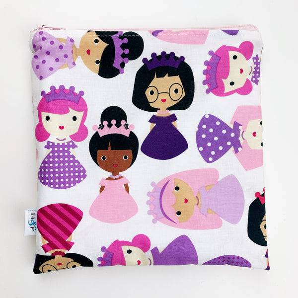 LARGE ReUsable Snack Bag - purple princess