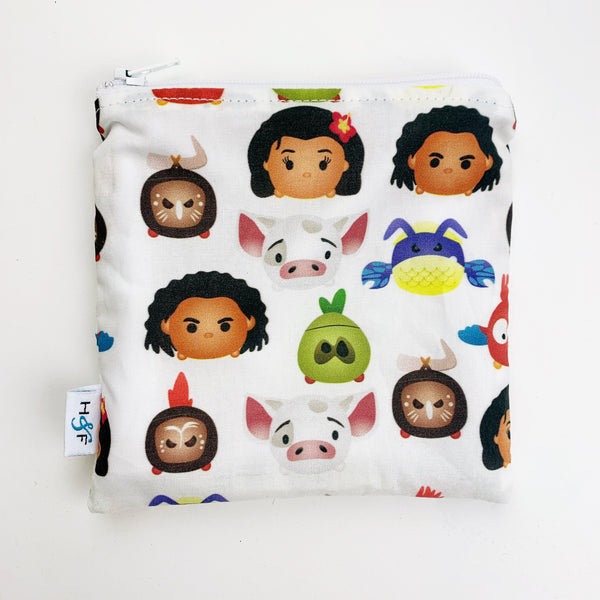 MEDIUM 'square' ReUsable Snack Bag - moana