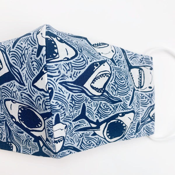 CHILD cotton face mask- sharks