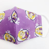 CHILD cotton face mask- rapunzel