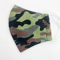 "ADULT ""Ear Loop"" cotton face mask- camo"