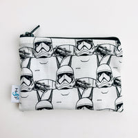 SMALL ReUsable Snack Bag - black and white storm troopers star wars