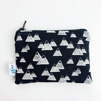 SMALL ReUsable Snack Bag - black and white mountains