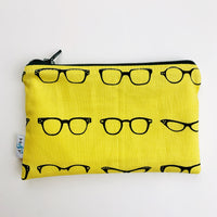 MEDIUM ReUsable Snack Bag - yellow and black glasses