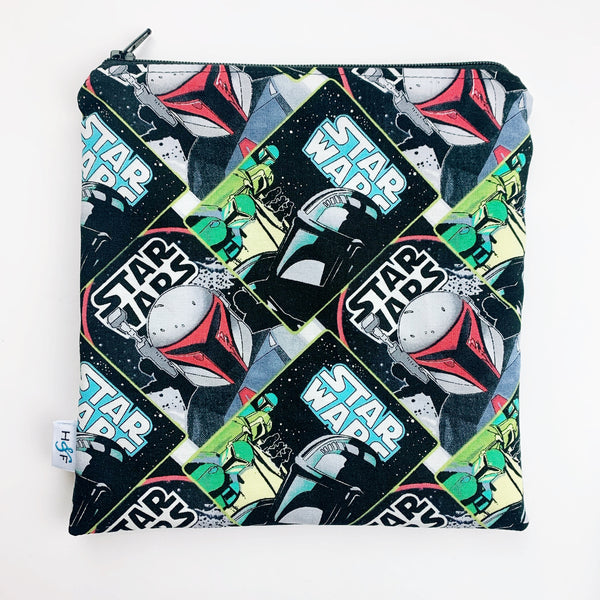 LARGE ReUsable Snack Bag - star wars mando