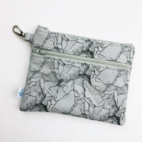 Mask Bag - Large double zip - grey rocks
