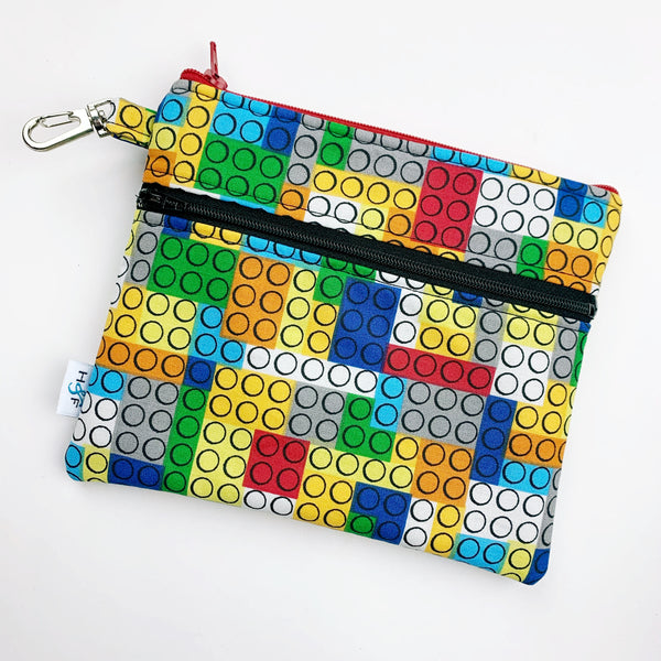 Mask Bag - Large double zip - lego