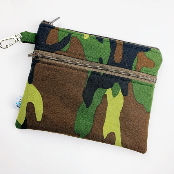 Mask Bag - Large double zip - camo