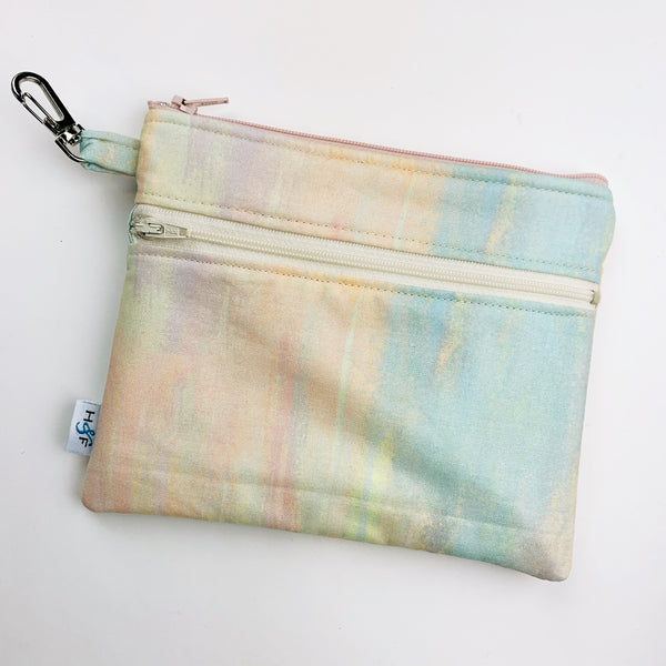 Mask Bag - Large double zip - watercolor