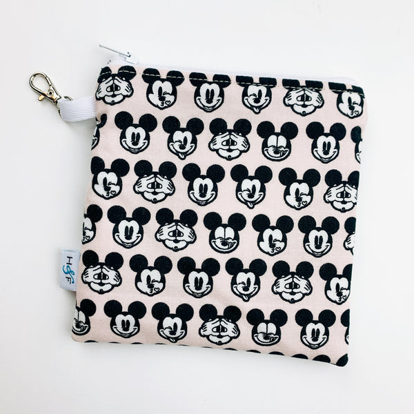 Mask Bag - medium square - micky mouse blush pink