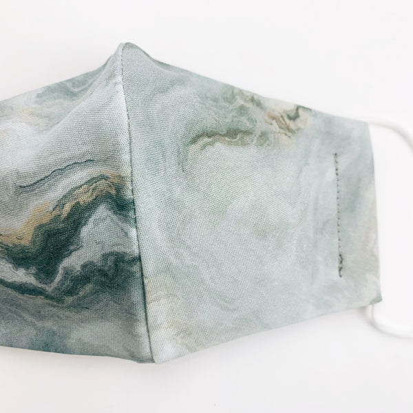 "CHILD ""EarLoop"" cotton face mask- marble grey"