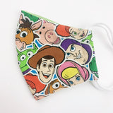 "SMALL CHILD ""EarLoop"" cotton face mask- toy story group"