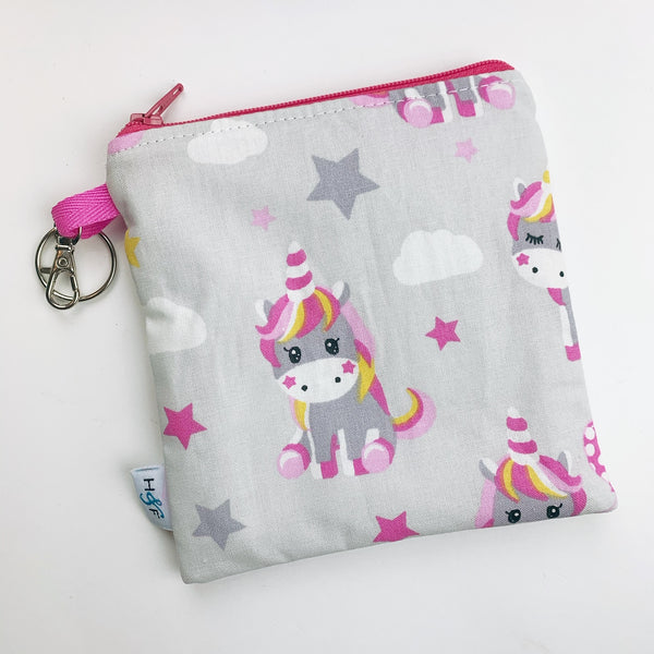 Mask Bag - medium square - unicorn star