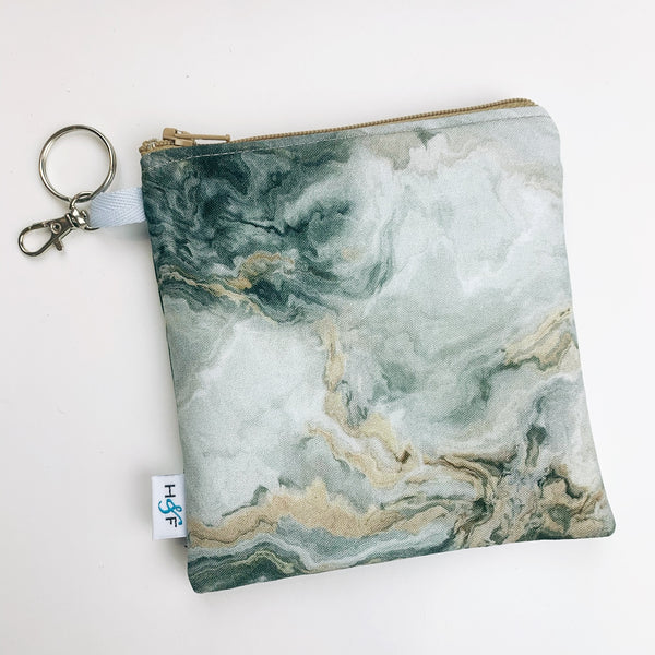Mask Bag - medium square - marble grey