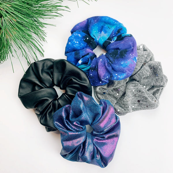 Luxe Scrunchie gift box set - galaxy