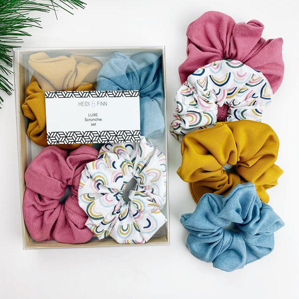 Luxe Scrunchie gift box set - muted rainbow