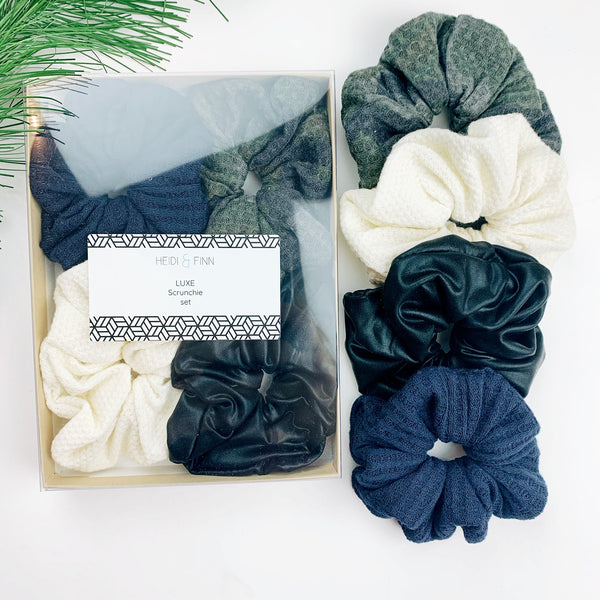 Luxe Scrunchie gift box set - camo neutral