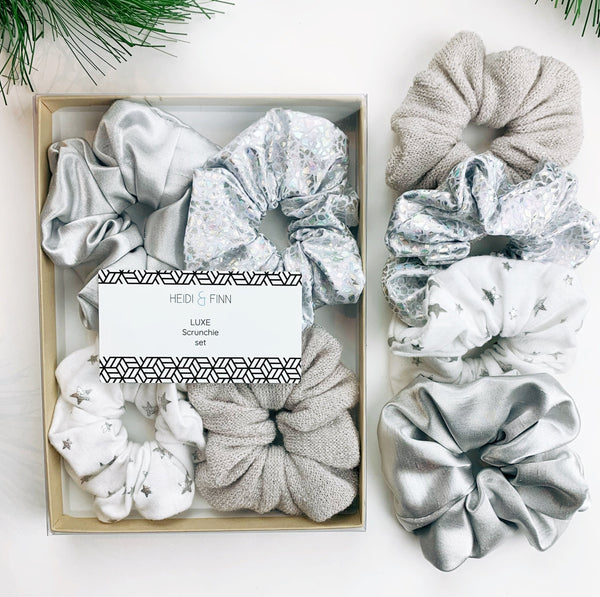 Luxe Scrunchie gift box set - Ice