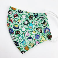CHILD cotton face mask- animal crossing