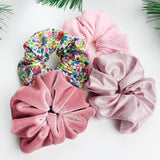 Luxe Scrunchie gift box set - Pink flowers