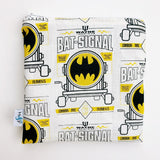 MEDIUM 'square' ReUsable Snack Bag - batman yellow