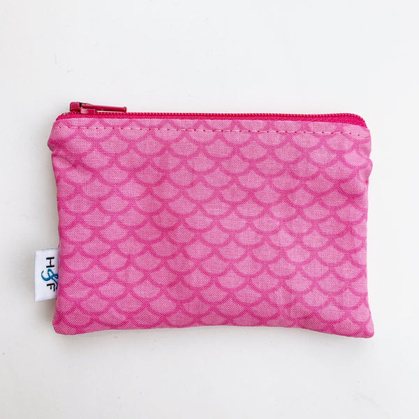 SMALL ReUsable Snack Bag - pink mermaid