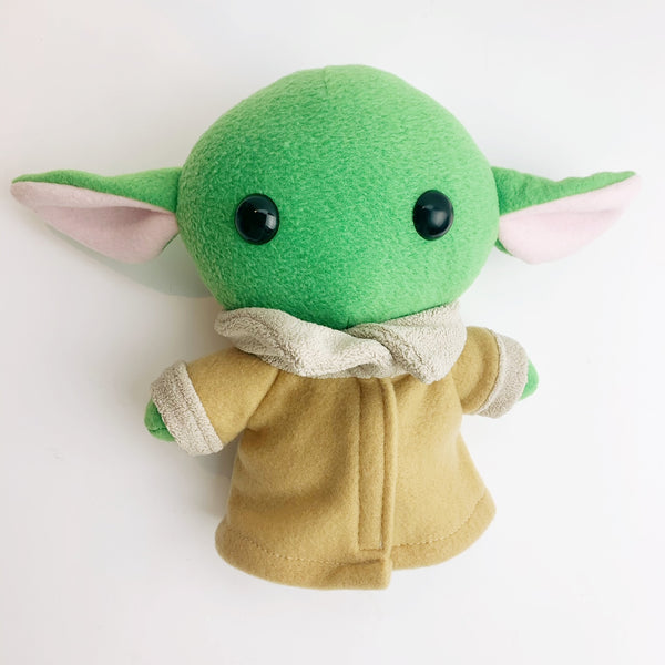 Plush baby yoda - 'the child' mando -  brown and tan cloak