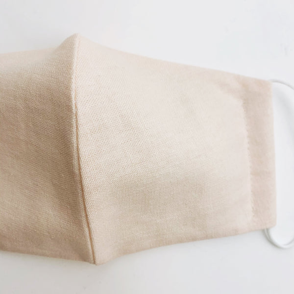 ADULT cotton face mask- Linen Pale pink