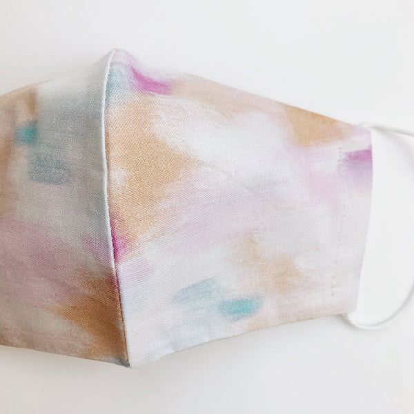 ADULT cotton face mask- pastel brushstrokes