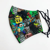 CHILD cotton face mask- minecraft group