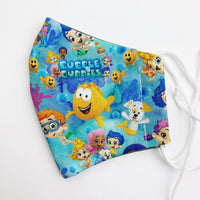 SMALL CHILD cotton face mask- bubble guppies