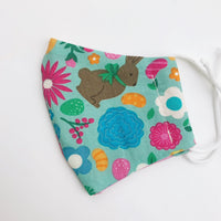 SMALL CHILD cotton face mask- easter treats and flowers