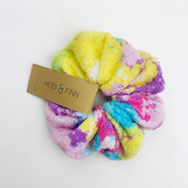 Swim Scrunchie -tye dye towel