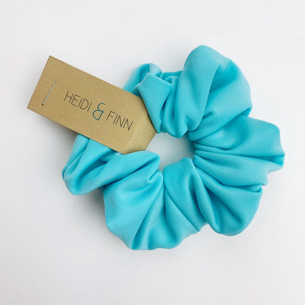 Swim Scrunchie -neon blue