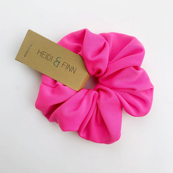 Swim Scrunchie -neon pink