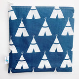 LARGE ReUsable Snack Bag - navy tent