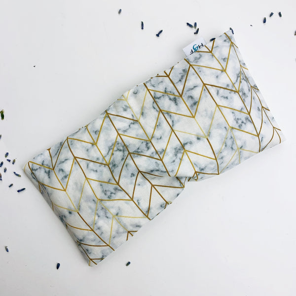 Lavender Eye Pillow - marble gold geo