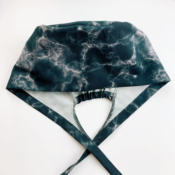 Scrub hat surgical cap - Black marble