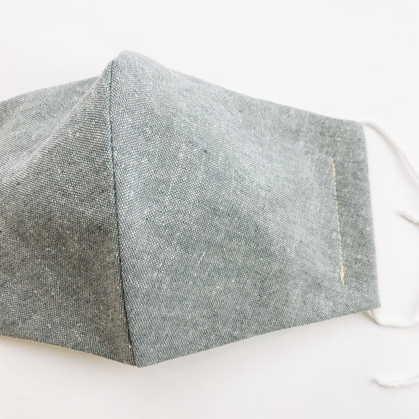 ADULT  cotton face mask- Textured light grey