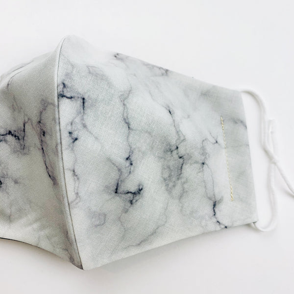 ADULT cotton face mask- light marble