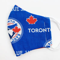 "CHILD ""EarLoop"" cotton face mask- blue jays"