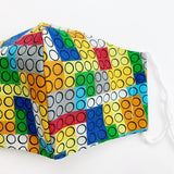 "CHILD ""EarLoop"" cotton face mask- lego"