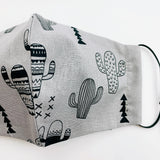 "CHILD ""EarLoop"" cotton face mask- Cactus grey"