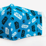 "CHILD ""EarLoop"" cotton face mask- star wars blue"
