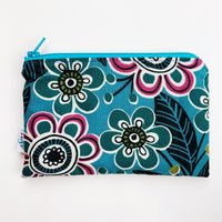 MEDIUM ReUsable Snack Bag - teal floral