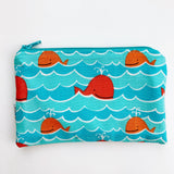 MEDIUM ReUsable Snack Bag - whales