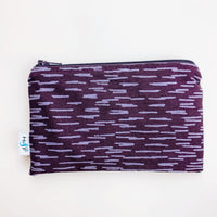 MEDIUM ReUsable Snack Bag - purple dash