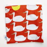 LARGE ReUsable Snack Bag - ducks red